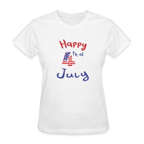 happy 4th of July - Women's T-Shirt