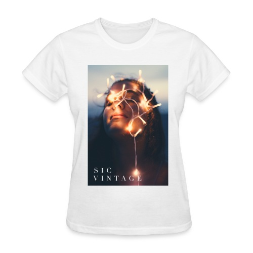 SicVintage Beauty in the Lignts - Women's T-Shirt