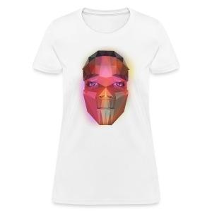 low poly face - Women's T-Shirt