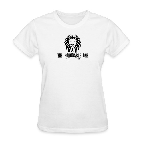 Lion: The Honorable One (Black) - Women's T-Shirt