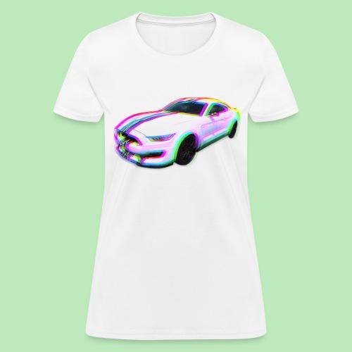 Mustang Glitch - Women's T-Shirt