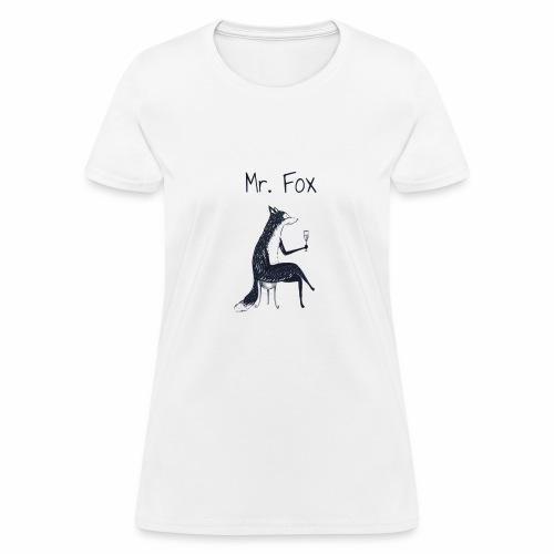 fox drinks vine - Women's T-Shirt