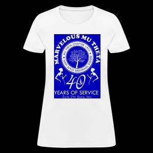 Mu Theta 40th anniversary celebration - Women's T-Shirt