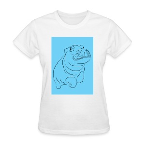 Blue Hippo - Women's T-Shirt