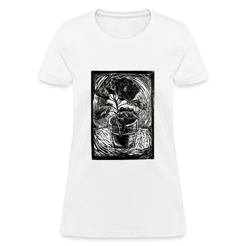 Hibiscus, 2017 linocut print by Jana Griffis - Women's T-Shirt