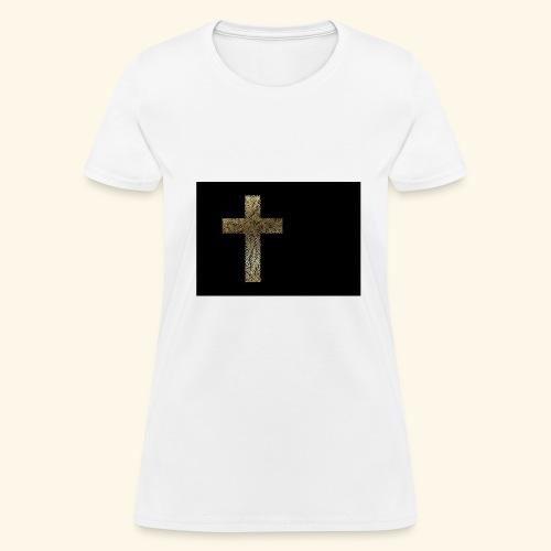 Gold Leaf Cross - Women's T-Shirt