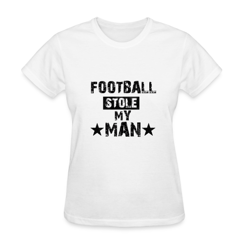 Football Stole My Man - Women's T-Shirt