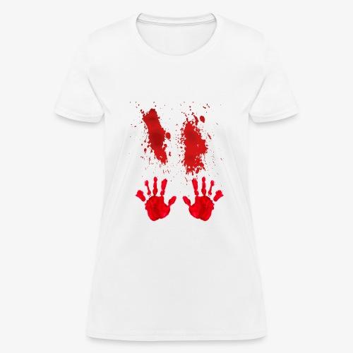 Bloody Hand Smear Halloween 2018 T-Shirt - Women's T-Shirt