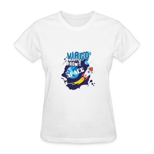 Funny Awesome Virgo`s Beauty come from Space - Women's T-Shirt