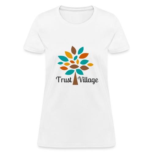 Official Trust Village Apparel (black wording) - Women's T-Shirt