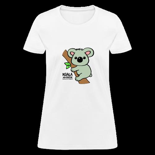 Koala Cute. Art by Paul Bass, assisted by Mollie. - Women's T-Shirt