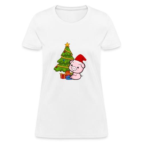 Xmas pig - Women's T-Shirt