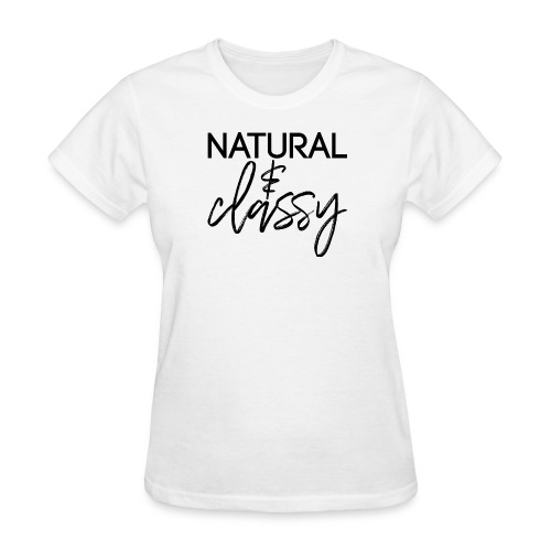 Natural & Classy BLACK - Women's T-Shirt