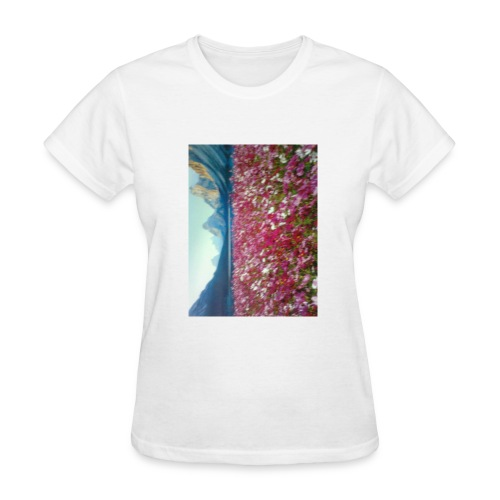 Mountains and Flower - Women's T-Shirt