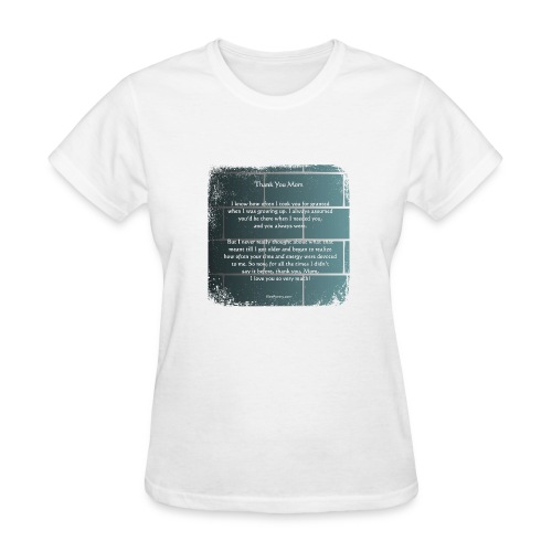 Thank You Mom - Poetry Gifts - Distressed Wall - Women's T-Shirt