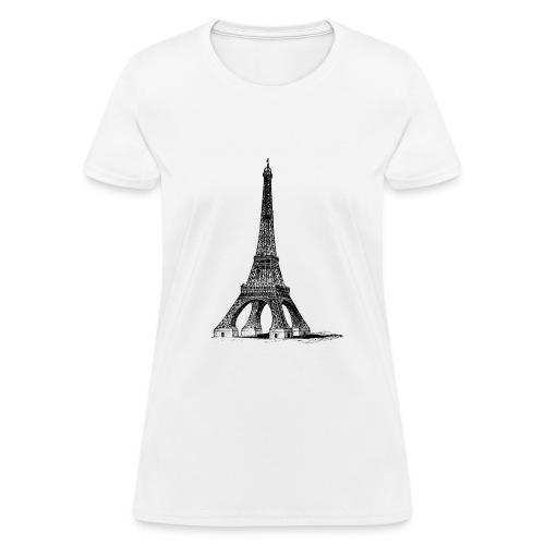 Eiffel Tower t-shirt - Women's T-Shirt