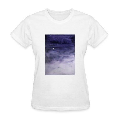 Clouds and Moon - Women's T-Shirt