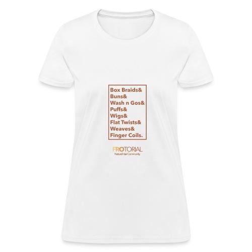Natural Hair Styles - Women's T-Shirt