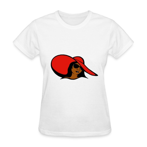no word woman with hat - Women's T-Shirt