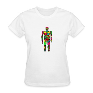 Cartoon Robocop in Color - Women's T-Shirt