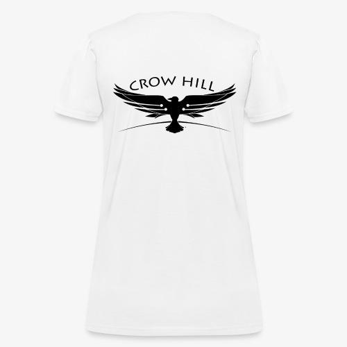 Crow Hill Band Black Logo on Back - Women's T-Shirt