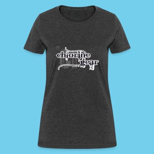 Chlorine Gear Textual B W - Women's T-Shirt