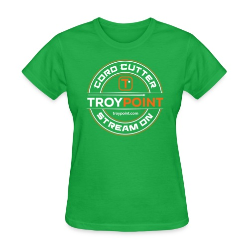 TROYPOINT Cord Cutter - Orange Logo - Women's T-Shirt