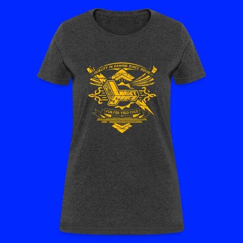 Vintage Leet Sauce Studios Crest Gold - Women's T-Shirt