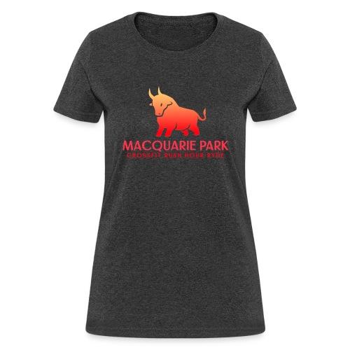 Orange Bull Red Text - Women's T-Shirt