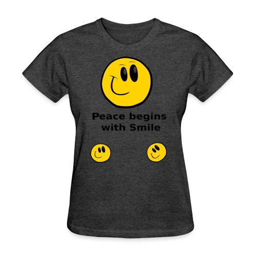 Peace begins with Smile - Women's T-Shirt
