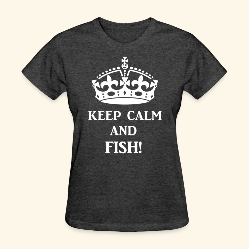 keep calm fish wht - Women's T-Shirt