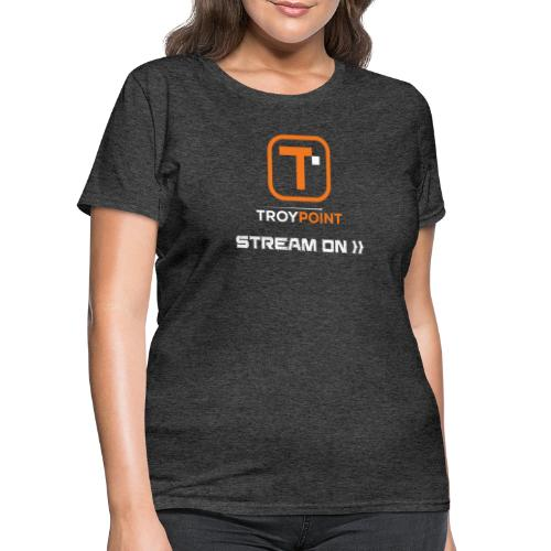 TROYPOINT Stream On Orange Logo - Women's T-Shirt