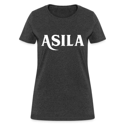 Asila Logo A4 RGB White - Women's T-Shirt