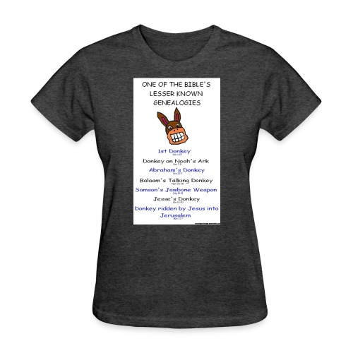 donkey genealogy tshirt - Women's T-Shirt