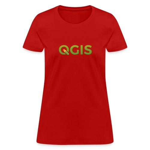 qgis_600dpi_transp_bg - Women's T-Shirt