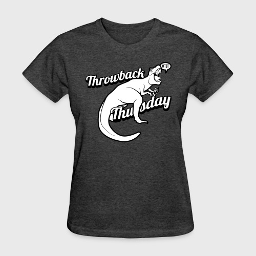 Throwback Thursday T-Rex - Women's T-Shirt