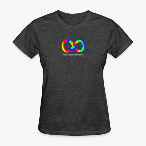 Neurodiversity with Rainbow swirl - Women's T-Shirt