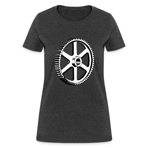 Big Gear Wheel - Vintage Illustration - Women's T-Shirt