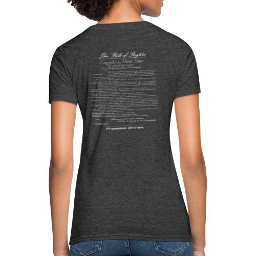 US Bill of Rights Grey Lettering - Women's T-Shirt