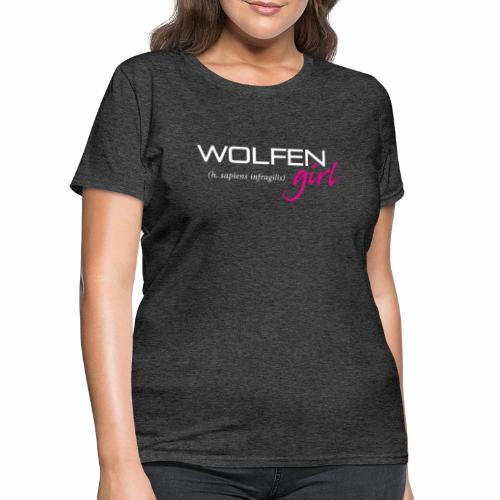 Front/Back: Wolfen Girl on Dark - Adapt or Die - Women's T-Shirt