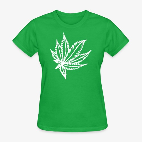 white leaf - Women's T-Shirt