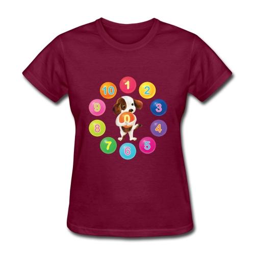 Numbers Dog - Women's T-Shirt