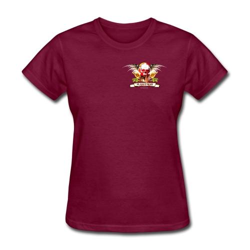 Planet Beer Skull & Keg Gothic Color - Women's T-Shirt