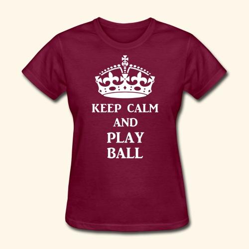 keep calm play ball wht - Women's T-Shirt