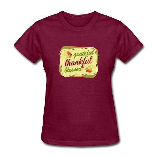 grateful thankful blessed - Women's T-Shirt