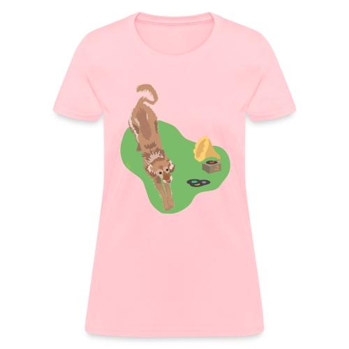 Golden Retriever Music - Women's T-Shirt