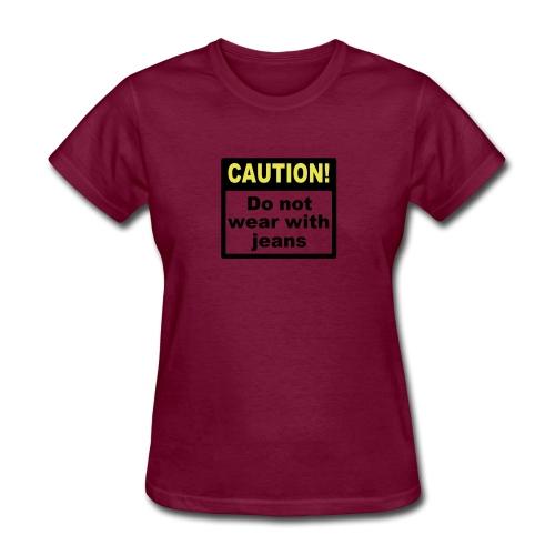 jeanscaution2 - Women's T-Shirt