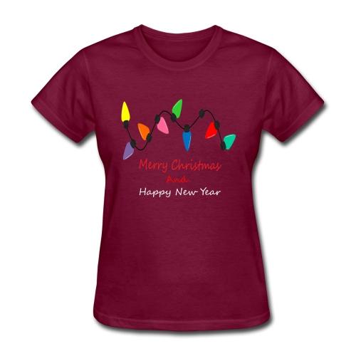 Lamp Of Merry Christmas - Women's T-Shirt