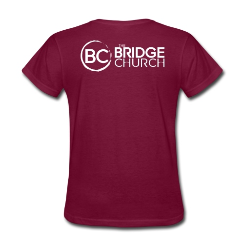 Finalized Bridge Church Logo White Sideways - Women's T-Shirt