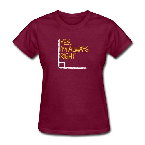 Right Angle Funny Math Teacher Student - Women's T-Shirt